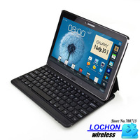 Free Shipping Ultrathin Wireless Bluetooth Keyboard + Leather Case Cover Stand For Samsung GALAXY Note 10.1 2014 P600 P601