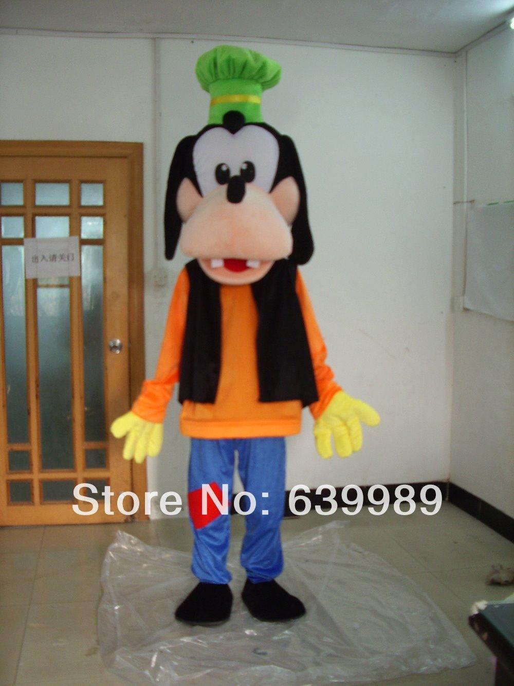POLE STAR MASCOT COSTUMES quality polyfoam hot sale new dog goofy mascot costumes 2014 hot sale goofy dog mascot costume goofy(China (Mainland))