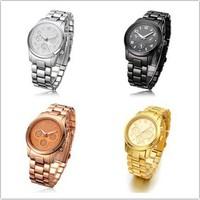 2014 new fashion watch hot sell women dress watches women rhinestone watches men quartz watch 4 colors free ship