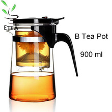 Promotion!New 900ml Heat-Resistan Glass Teapot simple tea kettle tea-pot Convenient Office Tea Pot Set ETP002