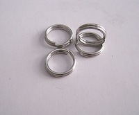 Stainless Steel Double Ring Connectors Jewelry Findings, Split Ring DOUBLE Rings Wholesales