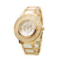 Luxury Designer Woman Authentic Smays Fashion Round Rhinestone Wristwatch Crystal Quartz Watch
