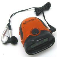 2014 hot selling multifunction precise digital FM radio belt clip pedometer