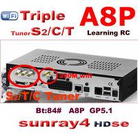 2014 new arrival sunray 800 hd se sr4 dm 800se a8p wifi  sunray4  se sr4 triple tuner