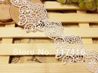 4 cm off white vintage look french lace trim fabric material