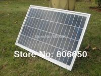 1piece 20watt 18V poly solar panel for charging 12V battery& Free shipping