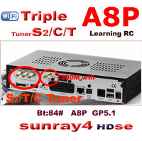 2014 free shipping new arrival sunray 800 se sr4 dm 800se a8p wifi digital satellite receiver sunray4  se sr4 triple tuner