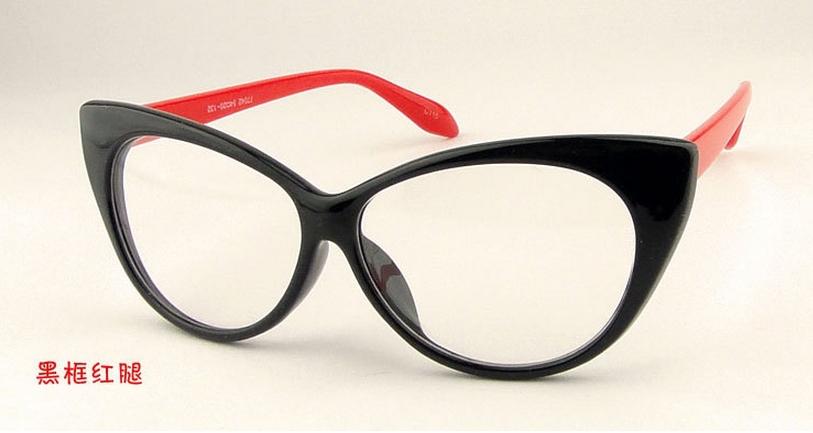 HOT SALES TOP Quality Vintage Inspired Fashion Girls Cat Eye Plain Glasses Chic Eyewear Free&Drop Shipping(China (Mainland))