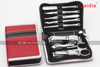 1set 9 Piece Nail Care Manicure Set Pedicure Travel Grooming Nail Art Tools With Gift Box