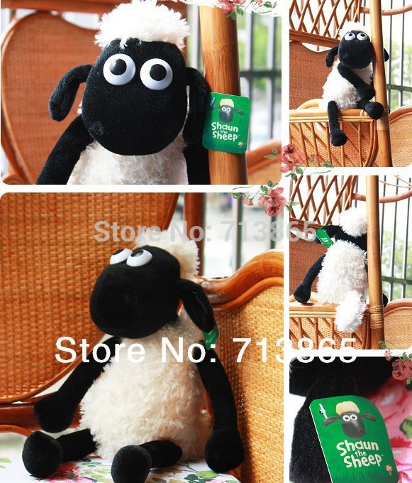 25cm Cute Shaun the sheep lamb plush toys wholesale Christmas gift bag sends kids,Free shipping, Best gift(China (Mainland))