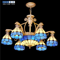 Tiffany Chandelier Mediterranean Excellent Flash Pedicle Jane European Chandeliers Bedroom Lamp Lighting Living Room Lamps Resta