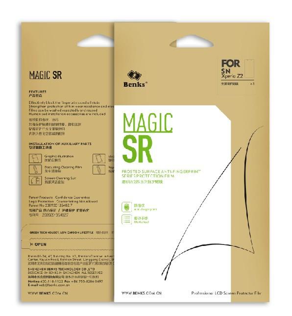 Защитная пленка для мобильных телефонов Benks Magic SR Screen Protector 100% SR Sony Xperia Z2 , Xperia Z2 комплектующие и запчасти для ноутбуков sony tablet z2 sgp511 512 541 z1