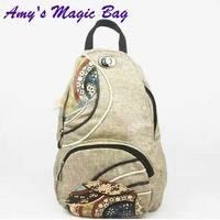 Female casual handbags canvas national trend KNAPSACK  patchwork shoulder bag all-match handmade chest pack retail