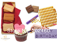 Free shipping New Press Sets Make Any Message Alphabet Letterpress Cake Decorating Tool