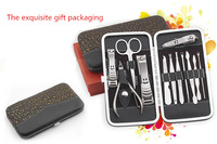 1set12 Nail Care Manicure Pedicure Travel Grooming Nail Art Tools With Gift Box
