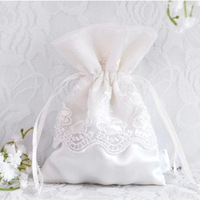 GAGA ! Free shipping  lace wedding candy bags , 4 colour for choose , favor bags LG104-off white