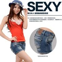 2014 summer denim shorts female sexy super shorts female trousers
