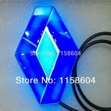 Free shipping car logo light for 3D renault car badge lightings,auto led light,auto emblem led lamp(China (Mainland))