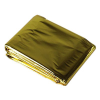 Gold and silver double-sided Outdoor Camping Emergency blanket Insulation Sunscreen Earthquake Fire Home 140*210cm Fold Survival