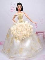 White pearl Dress Clothes for barbie original