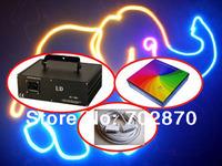 1000mW 1W RGB Animation DMX 512 ILDA DJ Xmas Christmas Party Disco Club Bar Stage Laser Light+V2.3 ishow software+10m ILDA cable