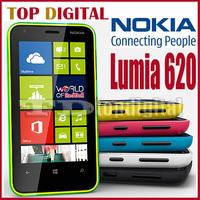 Shopping Festival Unlocked Original Nokia Lumia 620 Windows Phone 8 Dual Core 8GB Storage WIFI GPS Cell Phone