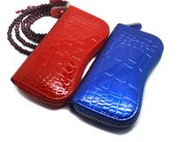 New Arrival Men's japanned leather genuine leather cowhide Purse Car Key Wallets Fashion Women Housekeeper Holders Wholesale