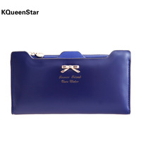 pardustrade 2014 bow plug-in women's wallet long design wallet lady's fashion purse Kqueenstar