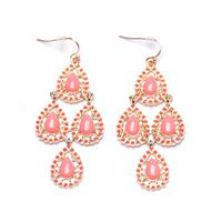 Free shipping!!!pink  blue color chandelier earrings ear piercing earring for women 2014 new 140321