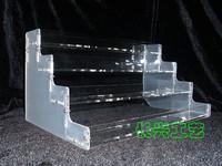 E4030 nail polish oil rack plaid acrylic shelf display rack cosmetics storage rack