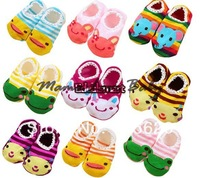 5pairs/lot Soft Cotton Infant shoes Cartoon TODDLER BABY kids Boy Girl Sock baby socks Size 3-36 Months 4167