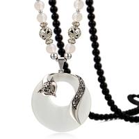 Crystal Rhinestone Fox opal necklaces trinkets pendants silver,Fashion Crystal Jewelry Wholesale TN182
