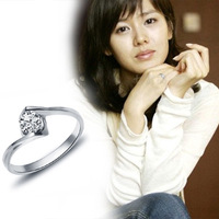 2013 Hot Wholesale Jewelry Dragonfly Silver Ring High Quality Fashion/Classic Jewelry Nickle Free Antiallergic TR100