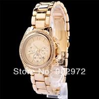 Luxury Famous Brand /w Logo Rose Gold Beling Crystal Shockproof Steel Silicon Quartz Wrist Watch for Women Man