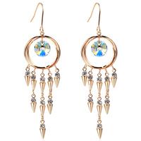 women crystal triangle Drop earrings make with Austria Elements wholesale Geometry TE245