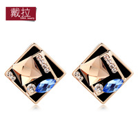 Hot Wholesale Austria Crystal Stud earring 18K Gold Plated for women Wholesale TE208