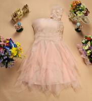 2013 one shoulder bridal fashion party dress beading lace patchwork gauze evening  dresses short design evening dress