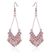 New fashion jewelry Romantic 14K GP with Austrian Rhinestones drop earrings gift for women girl nickel free Wholesale E1078