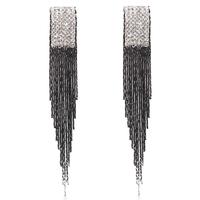 Fashion earrings no pierced tassel stud earring long design fashion accessories earrings for women 184