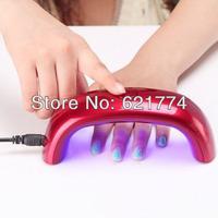 2014 New Hot Sales 9W Mini LED Rainbow Phototherapy UV Lamp Nail Dryer Machine Nail Polish Gel Curing Nail Art Tools