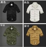 2014 New Spring Autumn Brand Man Shirt,Wholesale Cheap Men Slim Unique neckline stylish long Sleeve male dress casual shirt