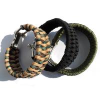 High quality trilobite weave adjustable buckle paracord bracelet 2014 new