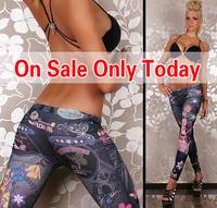 Women's Fashion Leggings Stretch Skinny Jeans Look Pants Leg Pants  leggings legging adventure time Free shipping H942