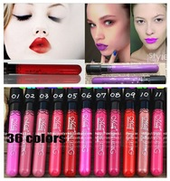 HOT SALE 12pcs/lot matte lipstick 36 colors velvet high quality waterproof lip gloss colors big discount free shipping