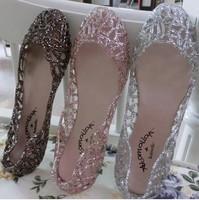 Supernova Sales New 2014 Feshion summer breathable women shoes Designer jelly sandals nest mesh flats for women slipper