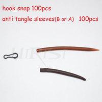 Wholesale  fishing hook snap and anti tangle sleeves  for carp rod fishing  200pcs