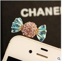 Min.order is $ 10 (Mix order) Free Shipping new 2014 lollipop dust plug phone accessories earphone jack cellphone dust cap