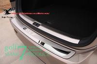 Stainless Steel Inner & Outer Rear Bumper Guard Plate Rear Trunk Scuff Plate Door Sill For VW Volkswagen Golf 7 GTI 7 Mk7 13 14