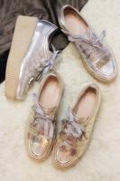 Vsv 2014 fashion punk full genuine leather lacing platform single shoes wedges
