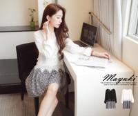 2014 women's lace patchwork one-piece dress long-sleeve dress